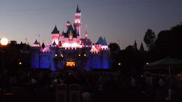 Cinderela's Castle at night , Donald M - May 2011