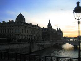 View across the Seine River at night, Paris - November 2011