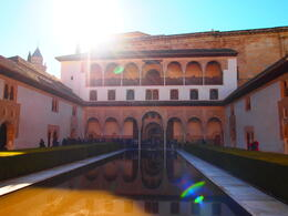 The Alhambra palace, Rachel - March 2014
