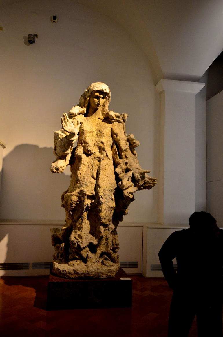 Picture of statue prior to entrance of Sistine Chappel - Rome