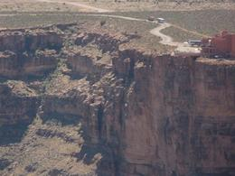As we come in to land, a view of the Skywalk against the canyon. - May 2009