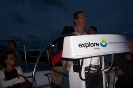 This is Phil( my travel mate) steering the boat. , Laurie B - March 2014
