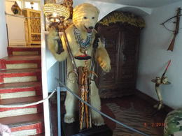 In the foyer of Salvador Dali's home stuffed bear , Walter K - June 2014