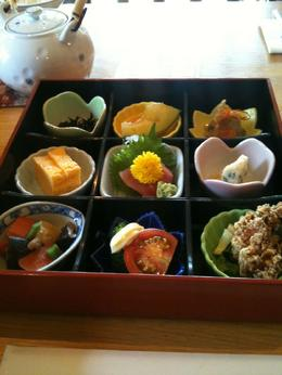 Traditional Japanese lunch served as part of the tour - August 2010