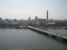 The view from our balcony of the Nile river and Cairo, Hasan Cagri E - July 2009