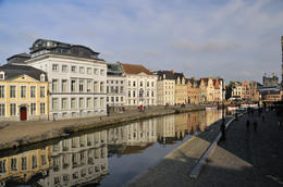 The picturesque buildings that line the waterways of Ghent, like time has stood still,beautiful. , michael L - November 2013