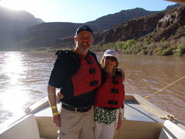 Paul and Cheryl rafting the Colorado , Paul D - December 2016