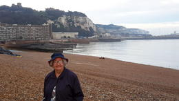Mum at Dover. White cliffs in background. , suziijoan52 - November 2017