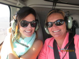 My daughter and I enjoying the flight to the Grand Canyon, Nicks - November 2014