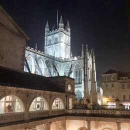 Inside Roman Baths - view on the cathedral , Elena K - February 2016