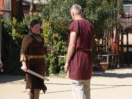 "Gladiator instructor gives carefully instructions to the ""recruit"", Michael L - April 2009"