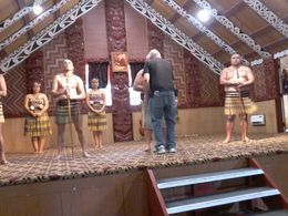 My partner was chief of the tourists and had to greet each of the 4 warriors prior to excellent performance , Jenny - December 2015