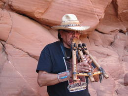 Leonard made beautiful music with his flute , Yvonne Y - November 2014