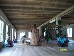 Kava ceremony in the community building., Roger A - October 2010