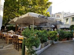 Street side restaurant cafe, Platka, Athens , Constance J - September 2017