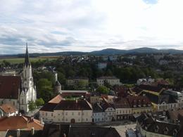 Panorama of Melk from the Abbey balcony , Joe G - September 2017