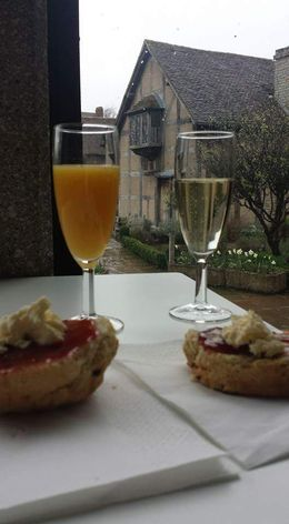Delicious cream scones at drinks while listening to Shakespeare's works , mylifecompleted - April 2016