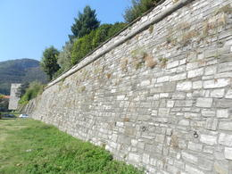 The wall surrounding the City of Como , Amadeo P - October 2012