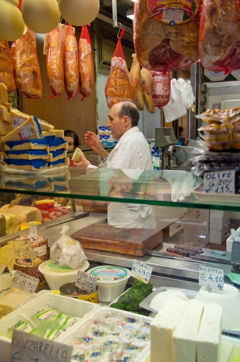 Fresh cheese... Yummy - we got samples! - Florence