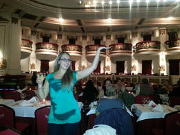 Shannon shows off the balcony's inside before the show starts! , Shannon - May 2013