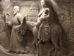 The flight into Egypt carved in Salt , Cecil C - March 2011