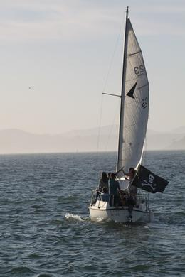 Met a sailboat in the bay , Linda F - June 2013