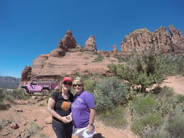 Terri and Dana on one of our stops during the Pink Jeep Tour in Sedona , Wendy W - May 2017