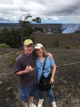At the volcano--Dreu took all photos of us! , Dana F - July 2017