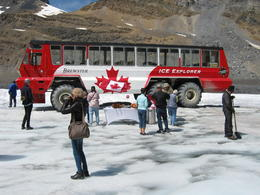 Brewster bus on the Columbia Icefield 7-25-2017 , Paula M - July 2017