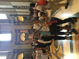 Us with Alfredo in the St. Peters Basilica at the end of our tour , recpeters - January 2018