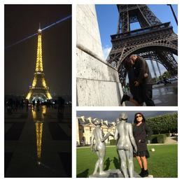 Mike and Maria at Eiffel Tower and Louvre , Michael S - September 2013
