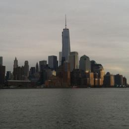 Travelling down the Hudson River toward the Statue of Liberty , Hilton S - January 2014
