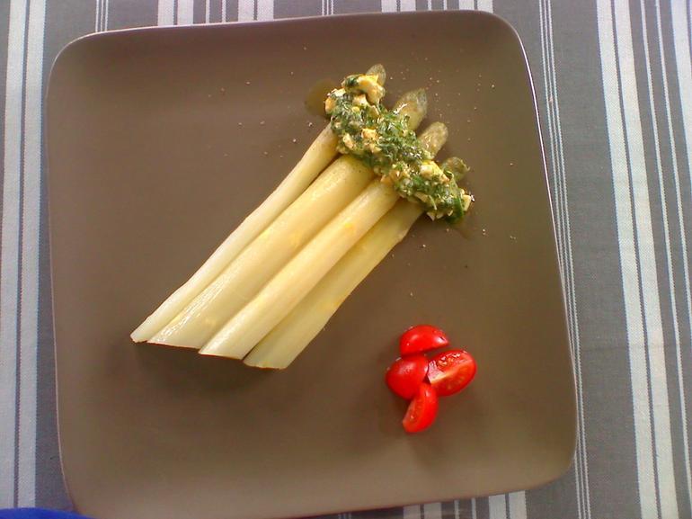 cooking class white asparagus - Paris