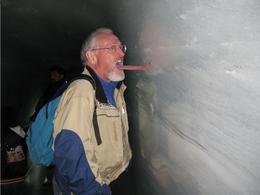 Don's Tongue on Ice --- summit Jungfraujoch, Judith A - September 2009