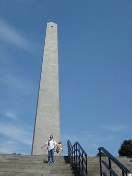 Katie getting ready to climb to the top of the Bunker Hill Memorial , Keith K - August 2012