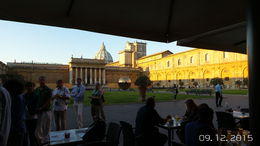 My husband and I were taking in the view from our breakfast table in the Vatican Courtyard--breathtaking! , Sherry M - September 2015