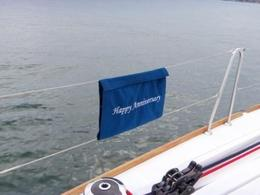 Thanks for a great anniversary sail! , Michael B - July 2013