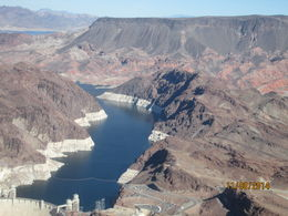 Awesome picture of Lake Mead working up to the Hoover Dam, Nicks - November 2014