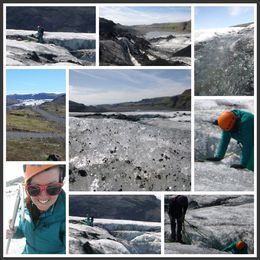 Collage from my glacier hike and ice climb , Christen D - June 2016