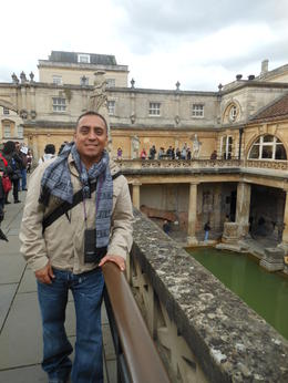 me at the bath house. overlooking where the Romans relaxed , Abel O - October 2013
