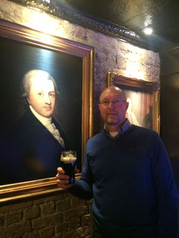 Dave thanking Arthur Guinness for the best beer on earth! , David H - May 2015