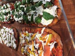 Sampling pizza , Allston C - June 2017