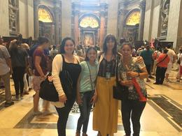 Us with Alfredo's Assistant in the St. Peters Basilica , recpeters - January 2018