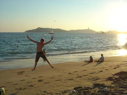 Hanging out on the beach in Acapulco Bay , Leah - May 2011
