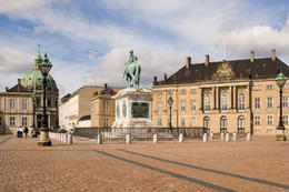 Amalienborg Palace, the winter residence of the Danish Royal Family - May 2011