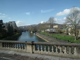 Bath river view with Pulteney Bridge in background , Mr Anthony J C - April 2014