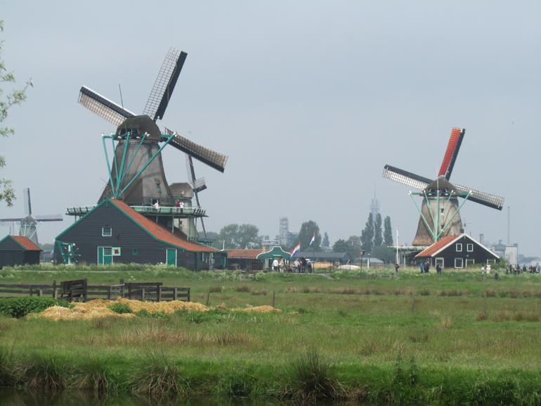 Beautiful Zaanse Schans Windmills - Amsterdam