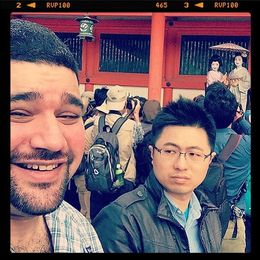 An attempted selfie with the Geisha at Heian Shrine. , Benjamin P - May 2015