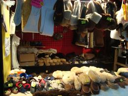 Sheepskin goods to keep warm at the markets - November 2012