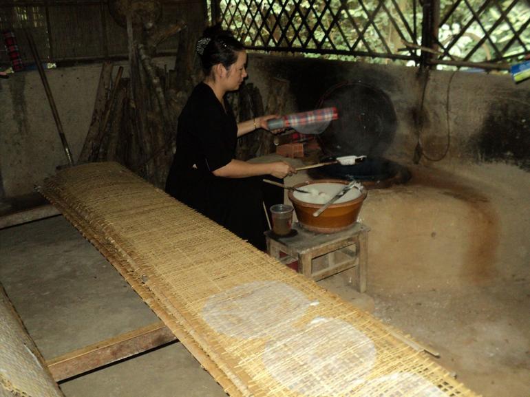 making rice pancakes - Ho Chi Minh City